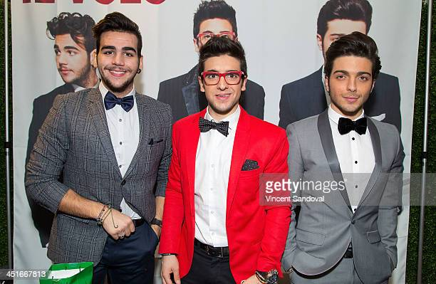 Ignazio Boschetto Piero Barone and Gianluca Ginoble of Il Volo attend the HGTV Holiday House KickOff at Santa Monica Place with performance by Il...