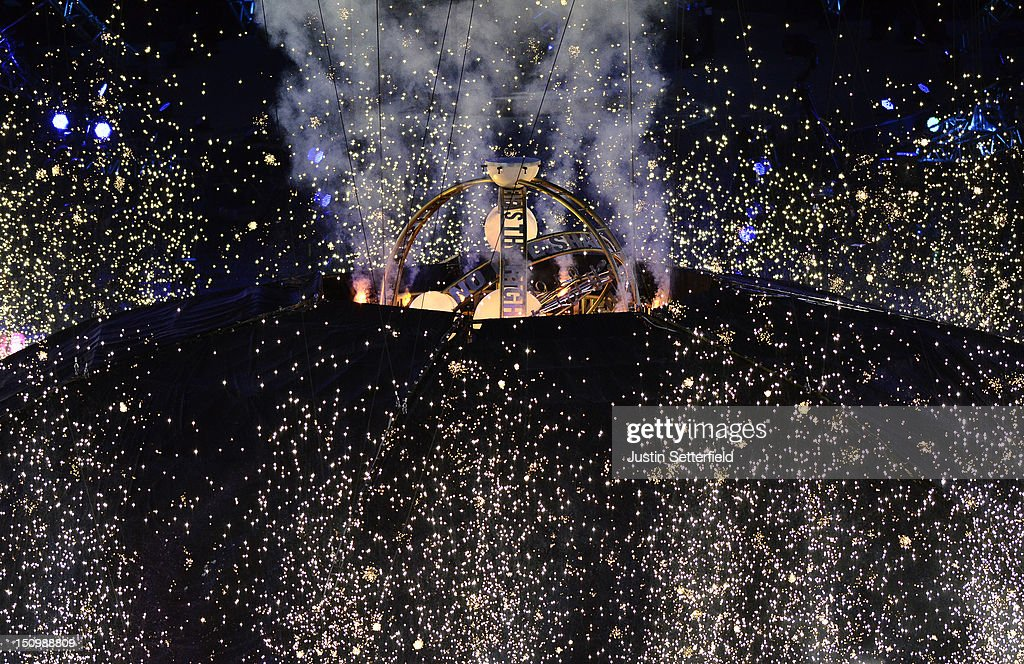 Igniting the 'big bang' during the Opening Ceremony of the London 2012 Paralympics at the Olympic Stadium on August 29, 2012 in London, England.