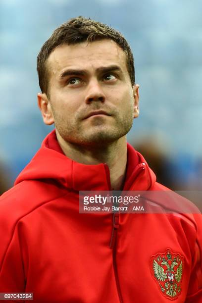 Igor Akinfeev of Russia during the Group A FIFA Confederations Cup Russia 2017 match between Russia and New Zealand at Saint Petersburg Stadium on...