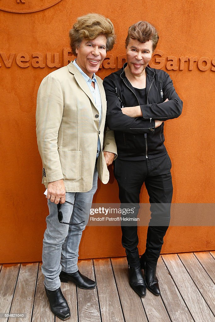 Igor and Grichka Bogdanov attend The French Tennis Open Day Seven at Roland Garros on May 28, 2016 in Paris, France.