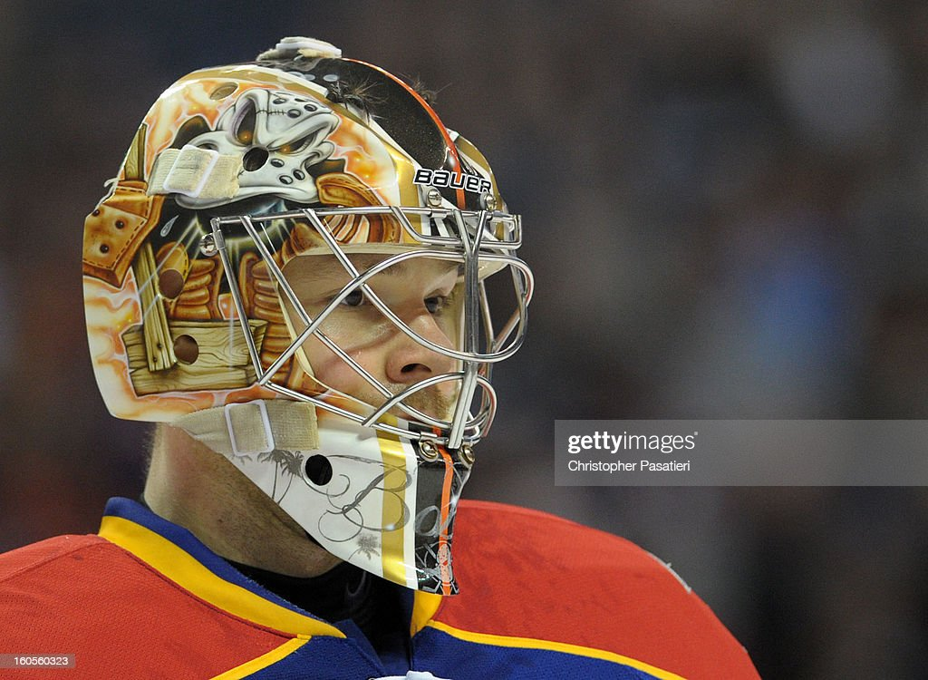 Igor Bobkov #35 of the Norfolk Admirals looks on during an American Hockey League game against the Bridgeport Sound Tigers on February 2, 2013 at the Webster Bank Arena at Harbor Yard in Bridgeport, Connecticut.