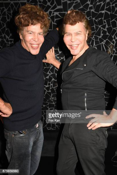 Igor Bogdanov and Grichka Bogdanov attend 'Le Temps Retrouve' Party at Les Bains on November 17 2017 in Paris France