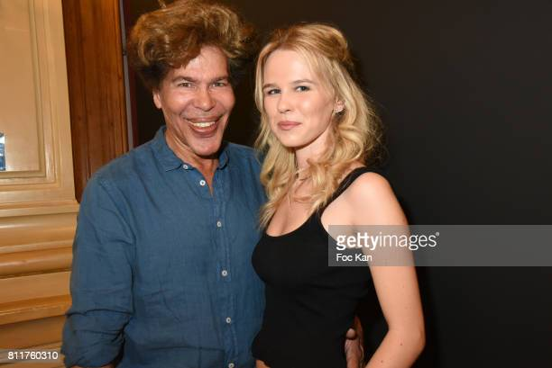 Igor Bogdanov and Julie Jardonattend the Dany Attrache Haute Couture Fall/Winter 20172018 show as part of Haute Couture Paris Fashion Week on July 4...
