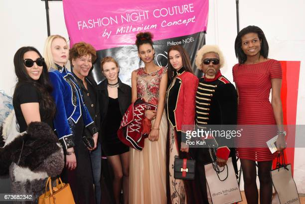 Igor Bogdanov Julie Jardon models and guests attend 'Fashion Night Couture 2017' Show at Salon des Miroirs on April 26 2017 in Paris France