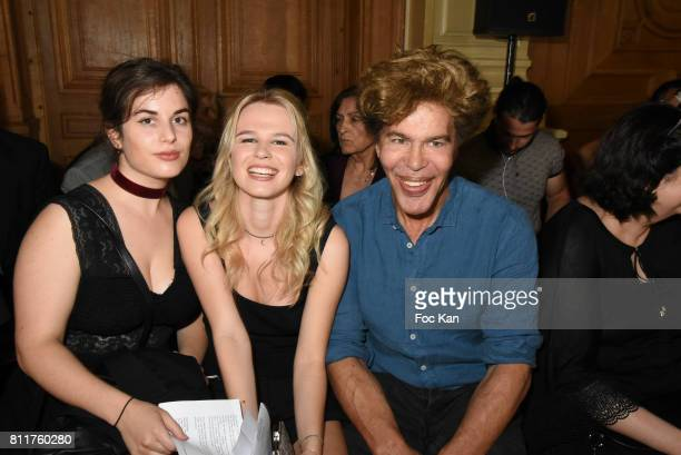 Igor Bogdanovand Julie Jardon attend the Dany Attrache Haute Couture Fall/Winter 20172018 show as part of Haute Couture Paris Fashion Week on July 4...