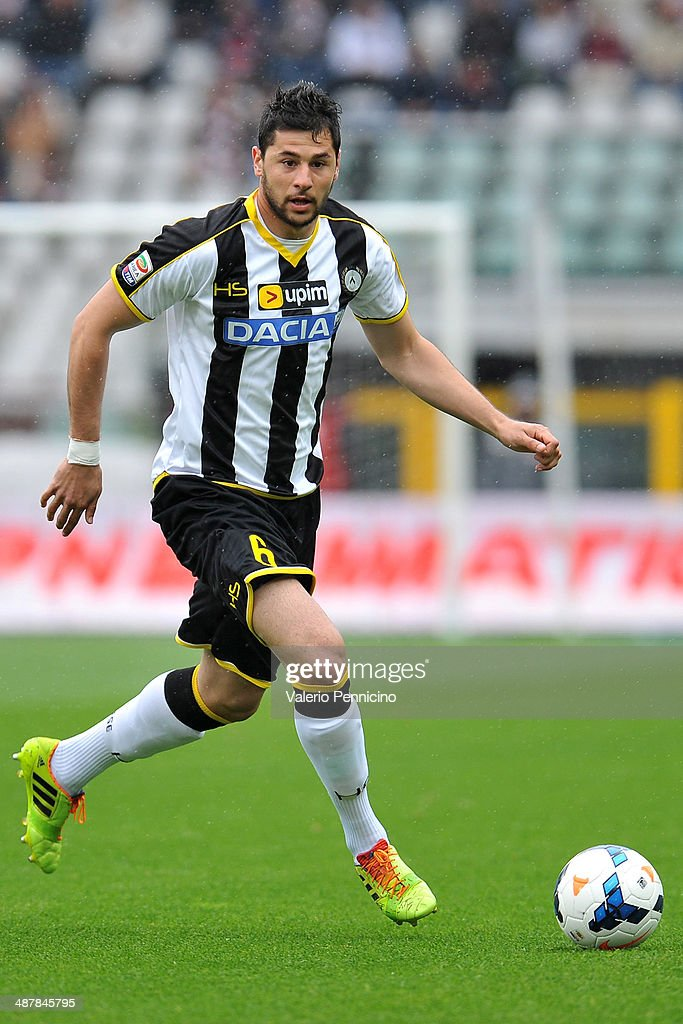 Igor Bubnjic of Udinese Calcio in action during the Serie A match between Torino FC and Udinese Calcio at Stadio Olimpico di Torino on April 27, 2014 in Turin, Italy.
