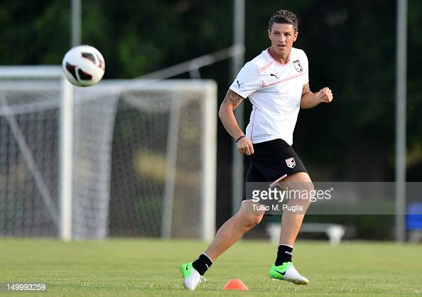 Igor Budan in action during a US Citta di Palermo preseason training session at Campo Tenente Onorato on August 8 2012 in Palermo Italy