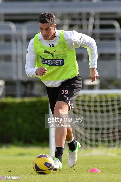 Igor Budan of Palermo in action during a training session at Tenente Carmelo Onorato Sports Center on December 5 2012 in Palermo Italy
