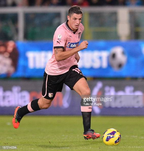 Igor Budan of Palermo in action during the TIM Cup match between US Citta di Palermo and Hellas Verona FC at Stadio Renzo Barbera on November 27 2012...