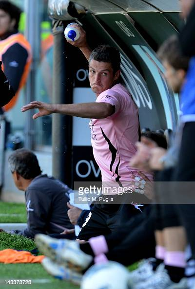 Igor Budan of Palermo reacts during the Serie A match between US Citta di Palermo and Parma FC at Stadio Renzo Barbera on April 25 2012 in Palermo...