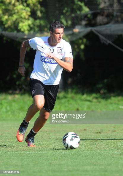 Igor Budan of US Citta di Palermo in action during a US Citta di Palermo Training Session at Coccaglio stadium on September 20 2012 in Coccaglio near...