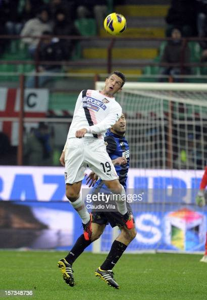 Igor Budan of US Citta di Palermo in action during the Serie A match between FC Internazionale Milano and US Citta di Palermo at San Siro Stadium on...