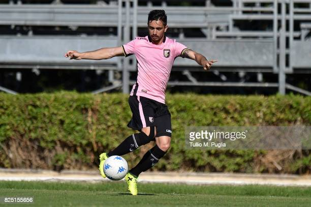 Igor Coronado of Palermo in action during a friendly match between US Citta' di Palermo and Monreale at Carmelo Onorato training center on July 30...