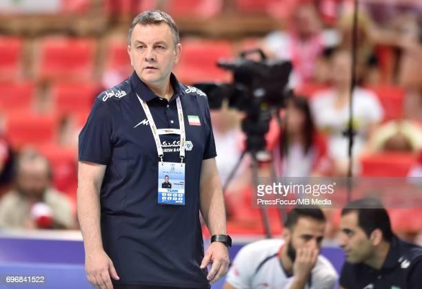 Igor Kolakovic trener during the FIVB World League 2017 match between Iran and USA at Arena Spodek on June 15 2017 in Katowice Poland