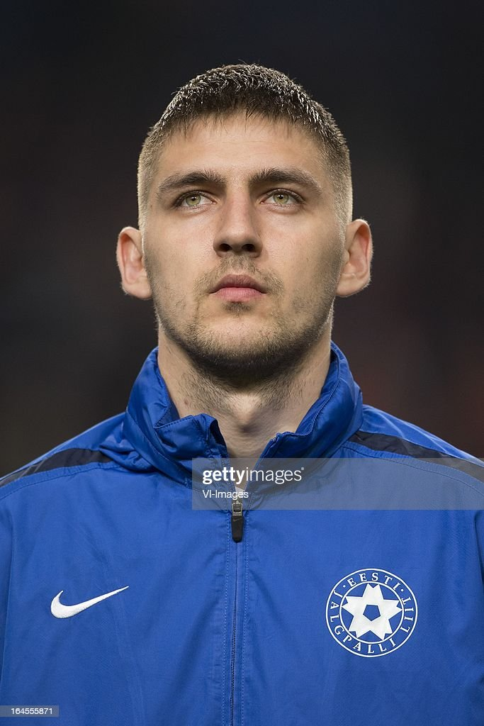 Igor Morozov of Estonia during the FIFA 2014 World Cup qualifier match between the Netherlands and Estonia at the Amsterdam Arena on march 22, 2013 in Amsterdam, The Netherlands