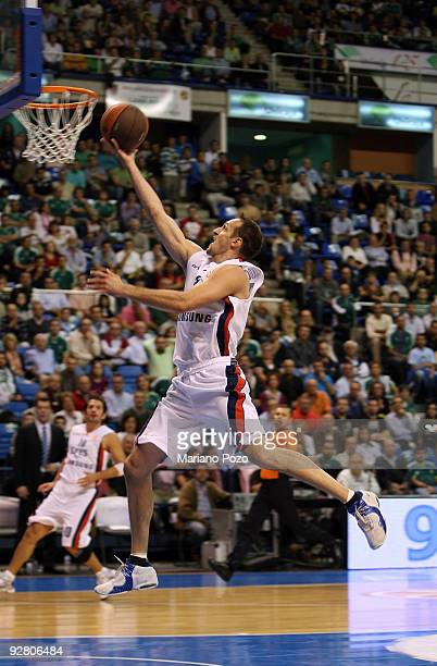 Igor Rakocevic #8 of Efes Pilsen Istanbul in action during the Euroleague Basketball Regular Season 20092010 Game Day 3 between Unicaja and Efes...