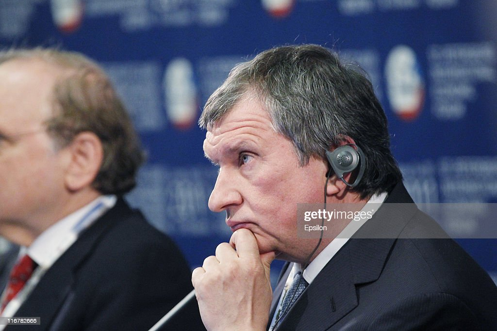 <a gi-track='captionPersonalityLinkClicked' href=/galleries/search?phrase=Igor+Sechin&family=editorial&specificpeople=756791 ng-click='$event.stopPropagation()'>Igor Sechin</a>, Deputy Prime Minister of the Russian Federation attends the St. Petersburg International Economic Forum (SPIEF) on June 17, 2011 in St. Petersburg, Russia. Global business leaders have gathered in Russia for the three-day conference.