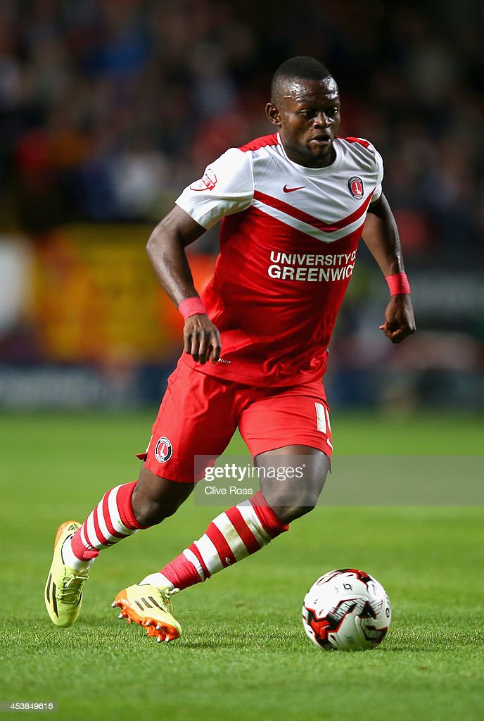 Igor Vetokele of Charlton in action during the Sky Bet Championship match between Charlton Athletic and Derby County at The Valley on August 19, 2014 in London, England.