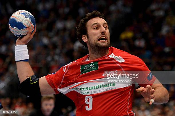 Igor Vori of Hamburg throws the ball during the EHF Final Four match between THW Kiel and HSV Hamburg at Lanxess Arena on June 1 2013 in Cologne...