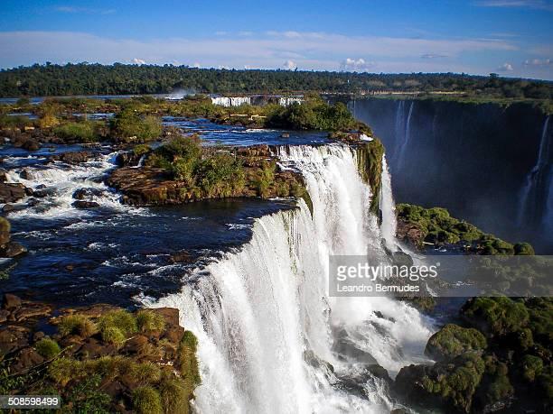 Iguazu Falls between Argentina and Brazil