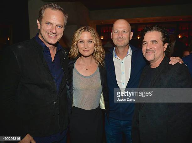 iHeartCountry's President Tom Poleman Recording Artist Jennifer Nettles Head of Country Programming Rod Phillips and Scott Borchetta attend the party...