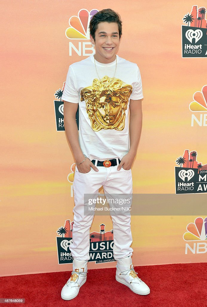iHEARTRADIO MUSIC AWARDS Pictured Recording artist Austin Mahone arrives at the iHeartRadio Music Awards held at the Shrine Auditorium on May 1 2014