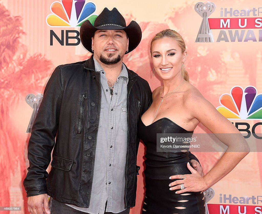 iHEARTRADIO MUSIC AWARDS Pictured Recording artist Jason Aldean and Brittany Kerr arrive at the iHeartRadio Music Awards held at the Shrine...