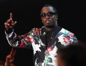 iHEARTRADIO MUSIC AWARDS Pictured Recording artist Sean 'Puff Daddy' Combs speaks onstage during the iHeartRadio Music Awards held at the Shrine...