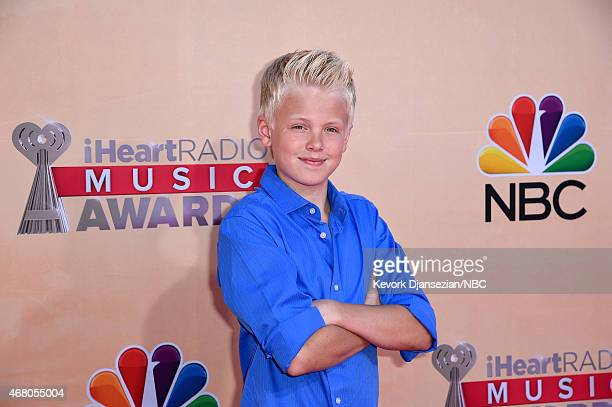 iHEARTRADIO MUSIC AWARDS Pictured Singer Carson Lueders arrives at the iHeartRadio Music Awards held at the Shrine Auditorium on March 29 2015 in Los...