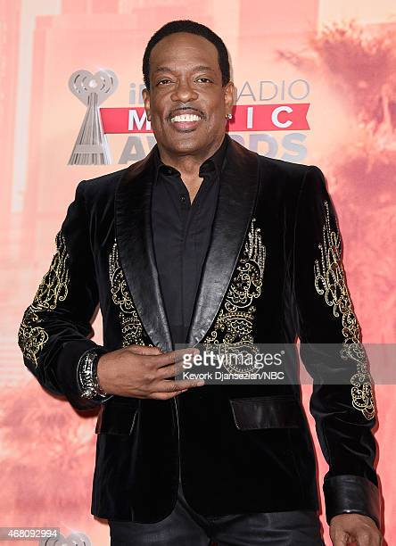 iHEARTRADIO MUSIC AWARDS Pictured Singer Charlie Wilson poses in the press room at the iHeartRadio Music Awards held at the Shrine Auditorium on...