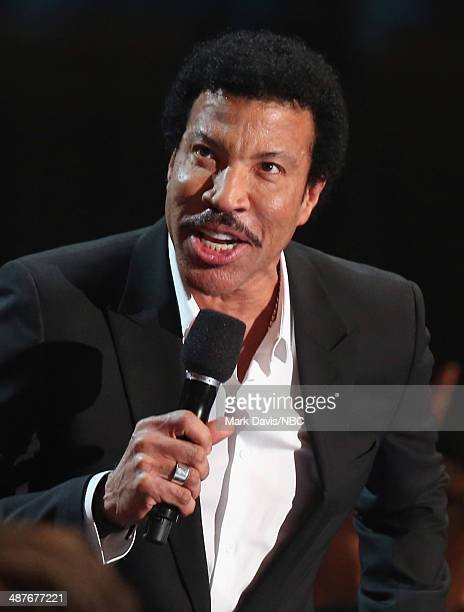 iHEARTRADIO MUSIC AWARDS Pictured Singer Lionel Richie speaks onstage during the iHeartRadio Music Awards held at the Shrine Auditorium on May 1 2014
