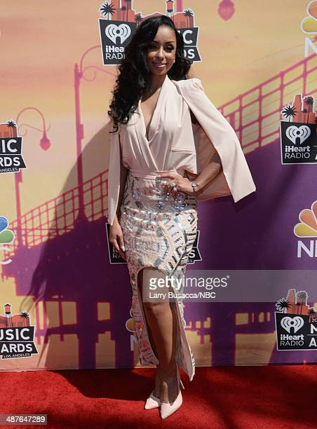 iHEARTRADIO MUSIC AWARDS Pictured Singer Mya arrives at the iHeartRadio Music Awards held at the Shrine Auditorium on May 1 2014