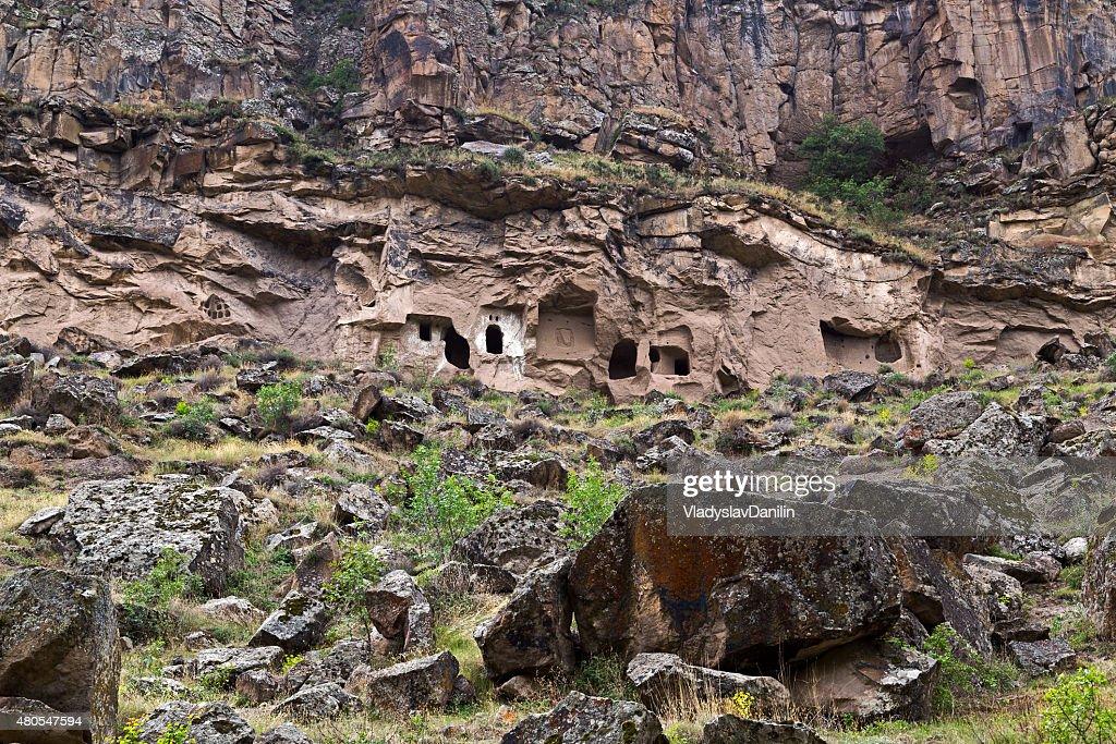 Ihlara valley in Cappadocia, Turkey : Stock Photo