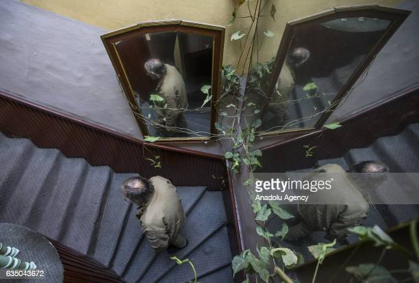 Ihsan Adnan Ercan 60yearold Turkish man climbs up the stairs at the 'Yeni Sukran Hotel' that has been welcoming its guests for 112 years in Izmir...