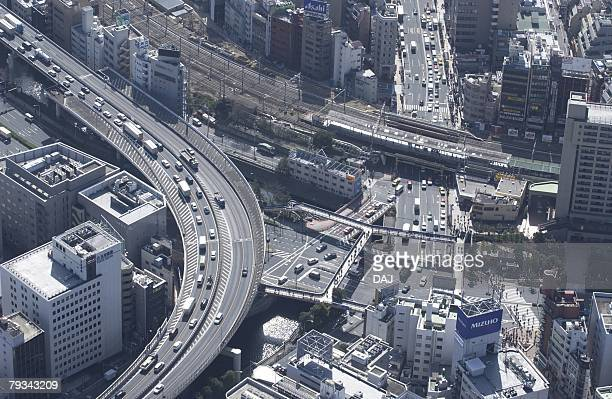 Iidabashi Station Area, Aerial View, Pan Focus