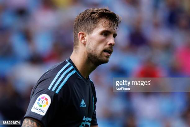 Iñigo Martinez defender of Real Sociedad de Futbol during the La Liga Santander match between Celta de Vigo and Real Sociedad de Futbol at Balaidos...
