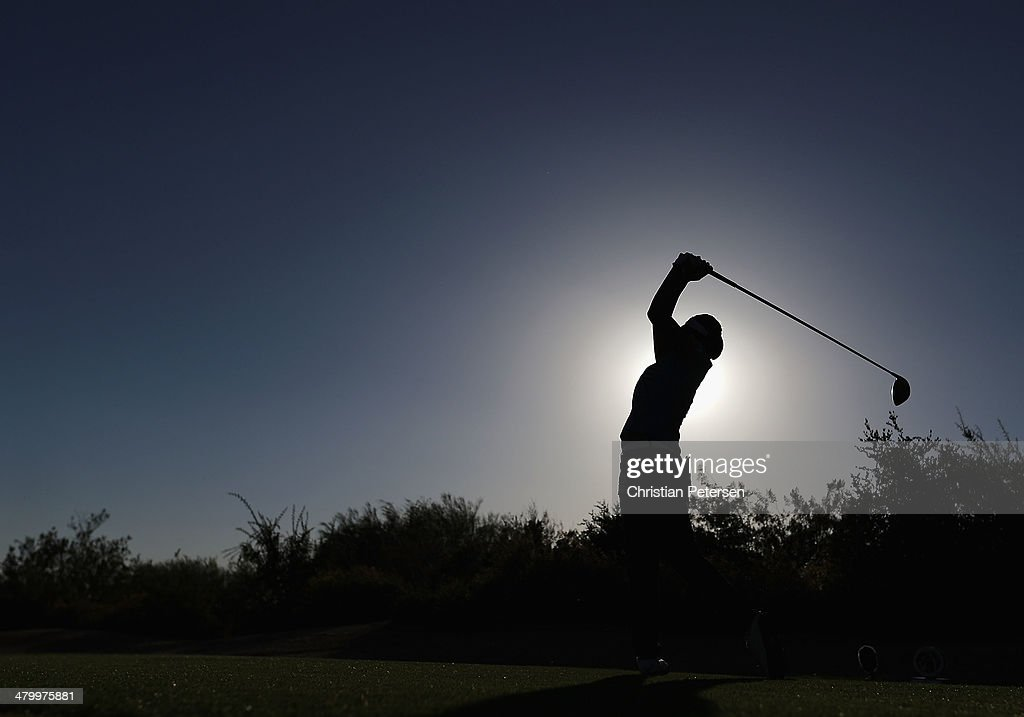 Iihee Lee of South Korea hits a tee shot on the ninth hole during the second round of the JTBC LPGA Founders Cup at Wildfire Golf Club on March 21, 2014 in Phoenix, Arizona.