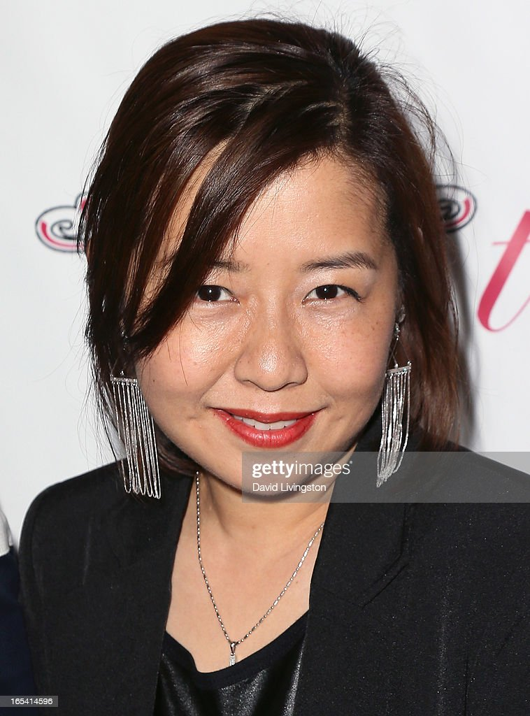 iiJin founder June Lee attends iiJin's Fall/Winter 2013 'The Love Revolution' fashion show at Avalon on April 3, 2013 in Hollywood, California.