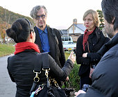 Iitate Japan German film director Wim Wenders visits the village of Iitate Fukushima Prefecture on Oct 27 2011 The village is designated as an...