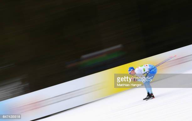 Iivo Niskanen of Finland competes in the Men's 4x10km Cross Country Relay during the FIS Nordic World Ski Championships on March 3 2017 in Lahti...