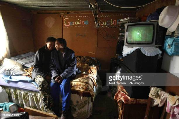 Iize and Gerard Williams inside the shack they have lived in for 10 years in Wallacdene Township in Capetown before receiving the keys to their first...