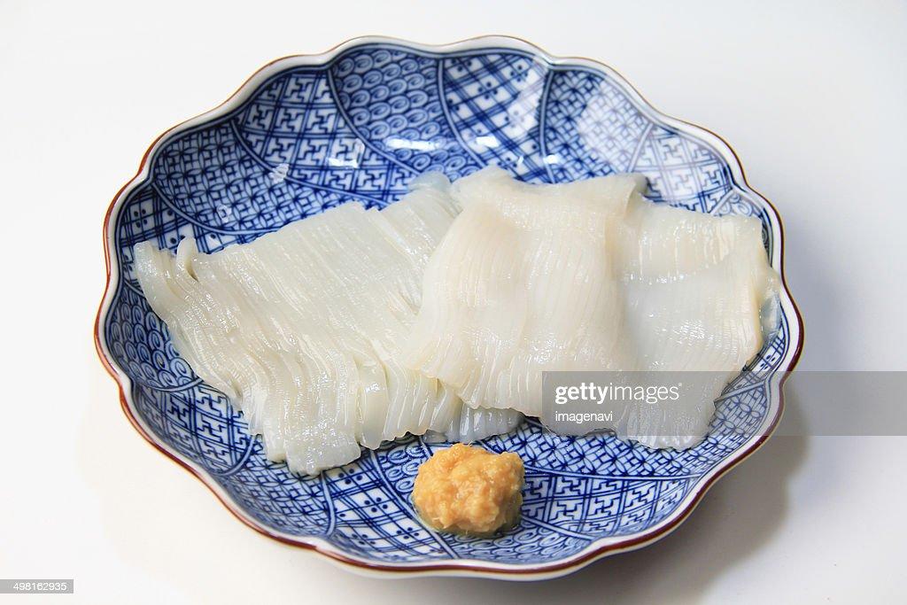 Ika Somen (Squid like noodles) : Stock Photo