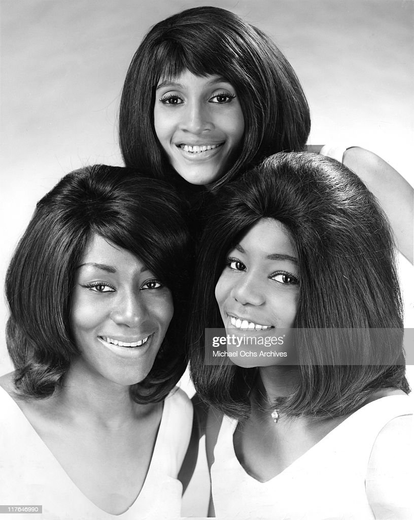 Ike and Tina Turner backup singers and recording artists The Ikettes (L-R Venetta Fields, Robbie Montgomery and Jessie Smith pose for a portrait circa 1965 in Dallas, Texas.