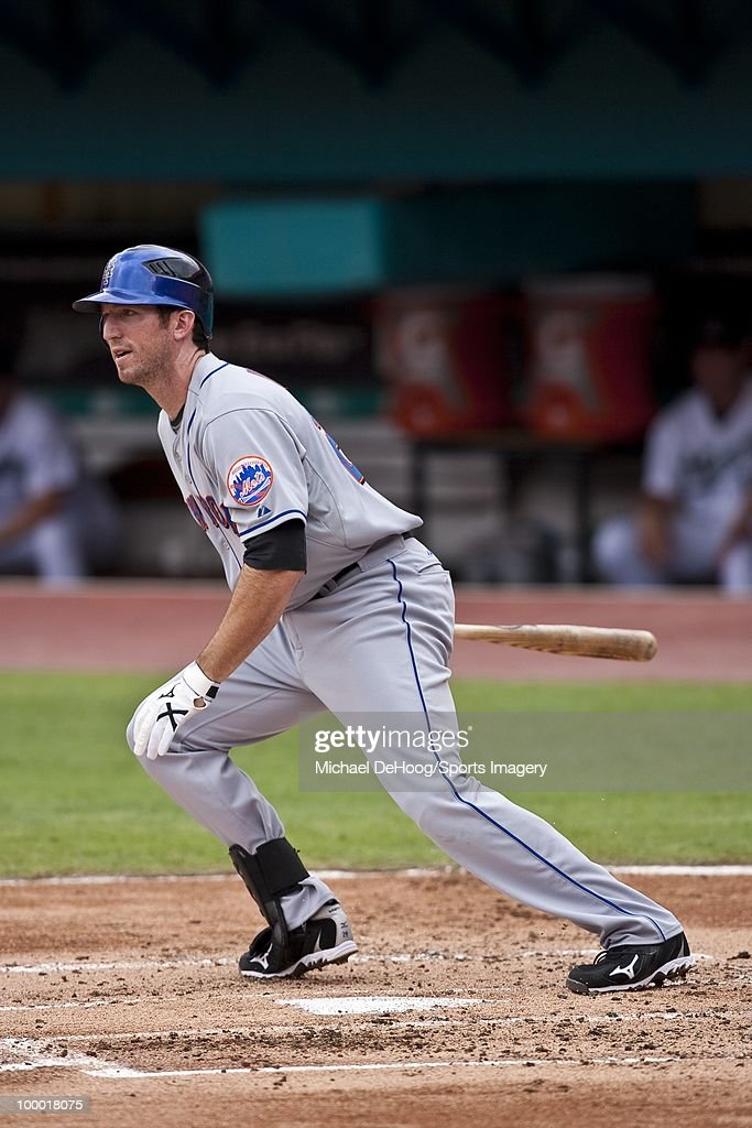 Ike Davis #29 of the New York Mets bats during a MLB game against the Florida Marlins in Sun Life Stadium on May 16, 2010 in Miami, Florida.