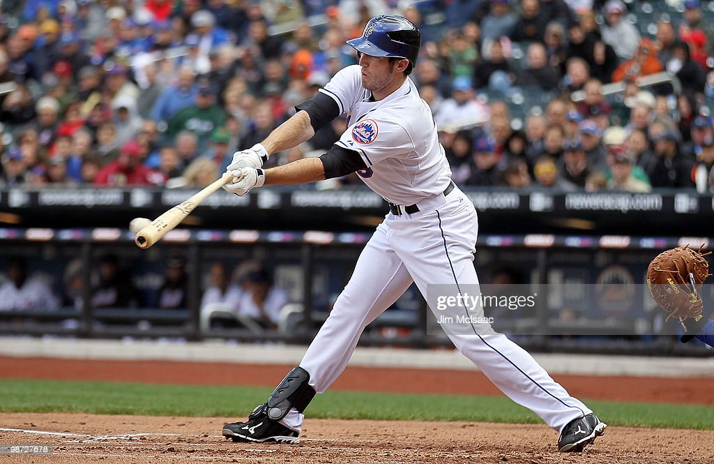 <a gi-track='captionPersonalityLinkClicked' href=/galleries/search?phrase=Ike+Davis&family=editorial&specificpeople=2349664 ng-click='$event.stopPropagation()'>Ike Davis</a> #29 of the New York Mets connects for a second inning RBI single against the Los Angeles Dodgers on April 28, 2010 at Citi Field in the Flushing neighborhood of the Queens borough of New York City.