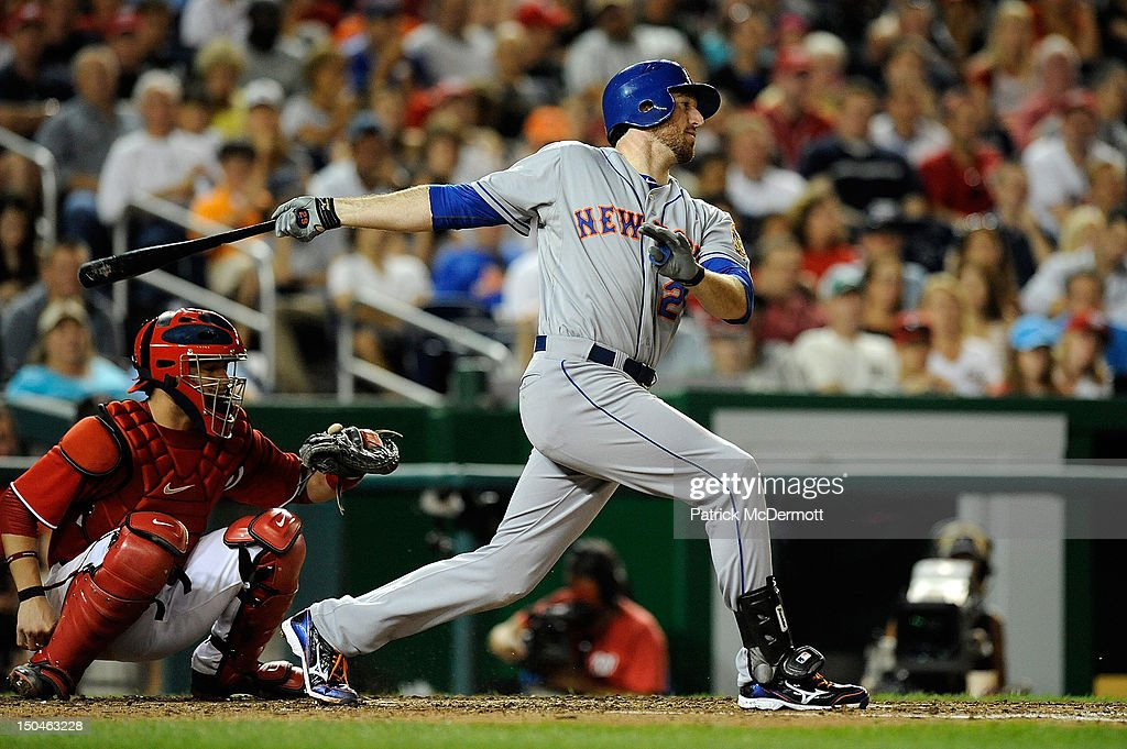<a gi-track='captionPersonalityLinkClicked' href=/galleries/search?phrase=Ike+Davis&family=editorial&specificpeople=2349664 ng-click='$event.stopPropagation()'>Ike Davis</a> #29 of the New York Mets hits against the Washington Nationals during a game at Nationals Park on August 18, 2012 in Washington, DC.