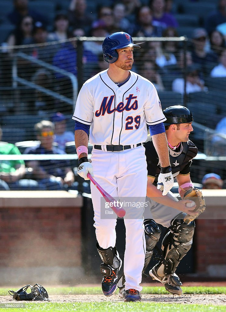 <a gi-track='captionPersonalityLinkClicked' href=/galleries/search?phrase=Ike+Davis&family=editorial&specificpeople=2349664 ng-click='$event.stopPropagation()'>Ike Davis</a> #29 of the New York Mets reacts after striking out in the eighth inning against the Pittsburgh Pirates on May 12, 2013 at Citi Field in the Flushing neighborhood of the Queens borough of New York City.