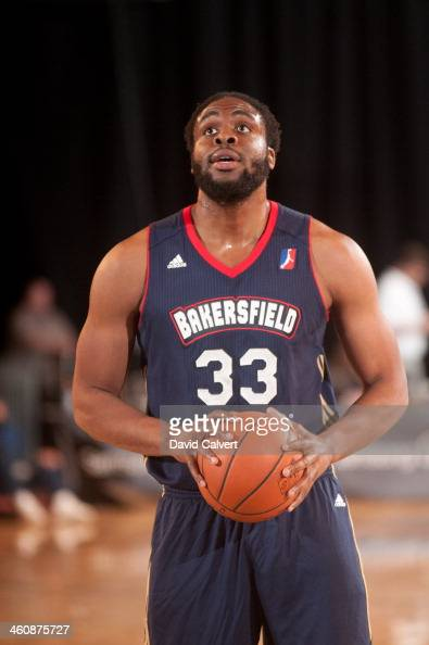 Ike Diogu of the Bakersfield Jam shoots a free throw against the Sioux Falls Skyforce during the 2014 NBA DLeague Showcase presented by Samsung...