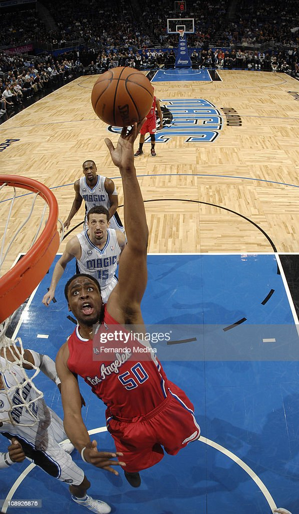 Ike Diogu of the Los Angeles Clippers shoots against the Orlando Magic on February 8 2011 at the Amway Center in Orlando Florida NOTE TO USER User...