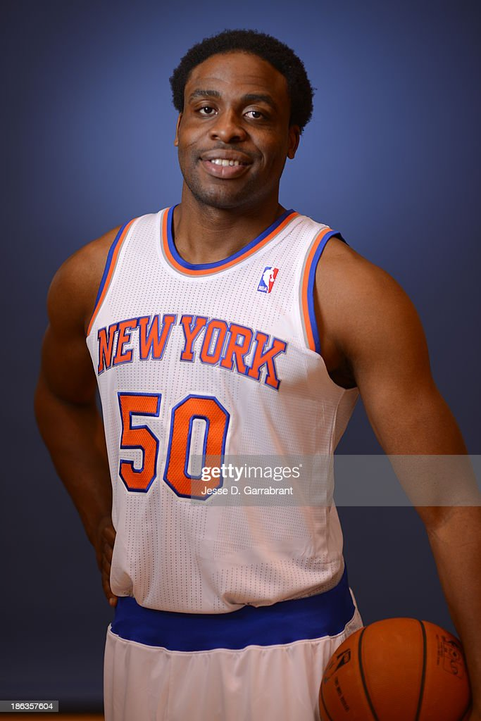 Ike Diogu of the New York Knicks poses for a portrait at Media Day on September 30 2013 at Madison Square Garden in New York City New York NOTE TO...